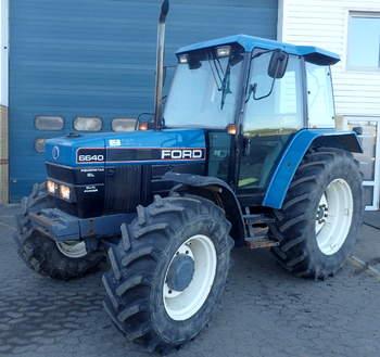 salg af New Holland 6640 SL traktor