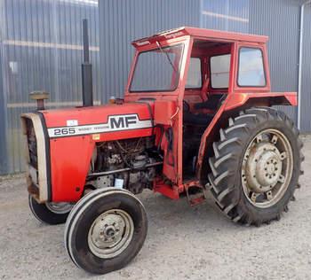 salg af Massey Ferguson 265 traktor