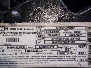 salg af Motor New Holland TS135A/6135 Profi